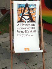 Deckchair at the Edinburgh International Book Festival