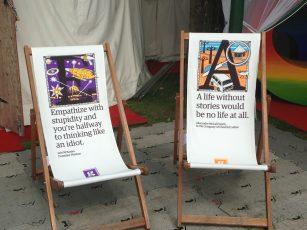 Deckchairs at the Edinburgh International Book Festival
